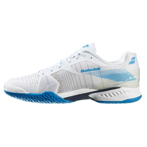 babolat jet ac mens tennis shoes footwear 2016 white blue