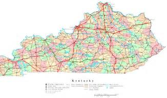 State Of Kentucky Map by Kentucky Printable Map