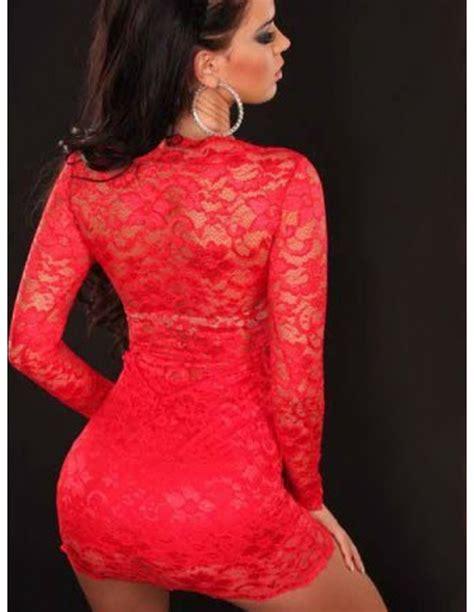 vestidos rojos de encaje cortos vestidos rojo cortos encaje