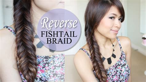 hairstyles for baseball games how to reverse fishtail braid hair tutorial new quick