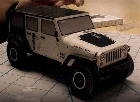 Papercraft Jeep - jeep wrangler rubicon free vehicle paper model