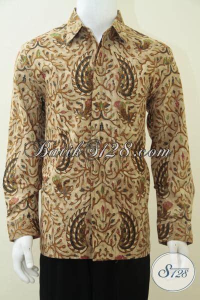 Batik Kesik Soga kemeja batik lengan panjang warna soga genes trend batik masa kini lp2357bt l toko batik