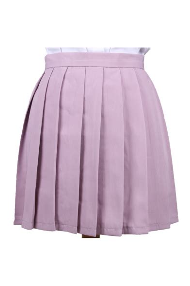 Pleated Plain Mini Skirt plain popular mini pleated skirt quality unique skirts