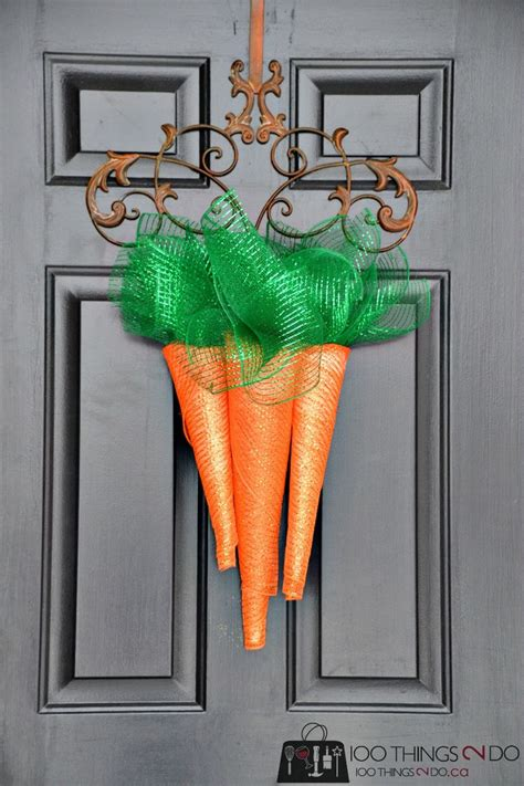 spring carrot door hanger carrots wreaths and doors 17 best images about easter spring ideas and recipes on
