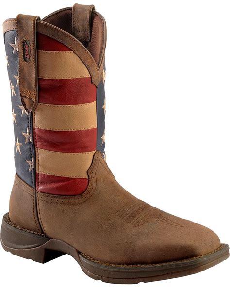american boots durango s rebel american flag cowboy boot steel toe