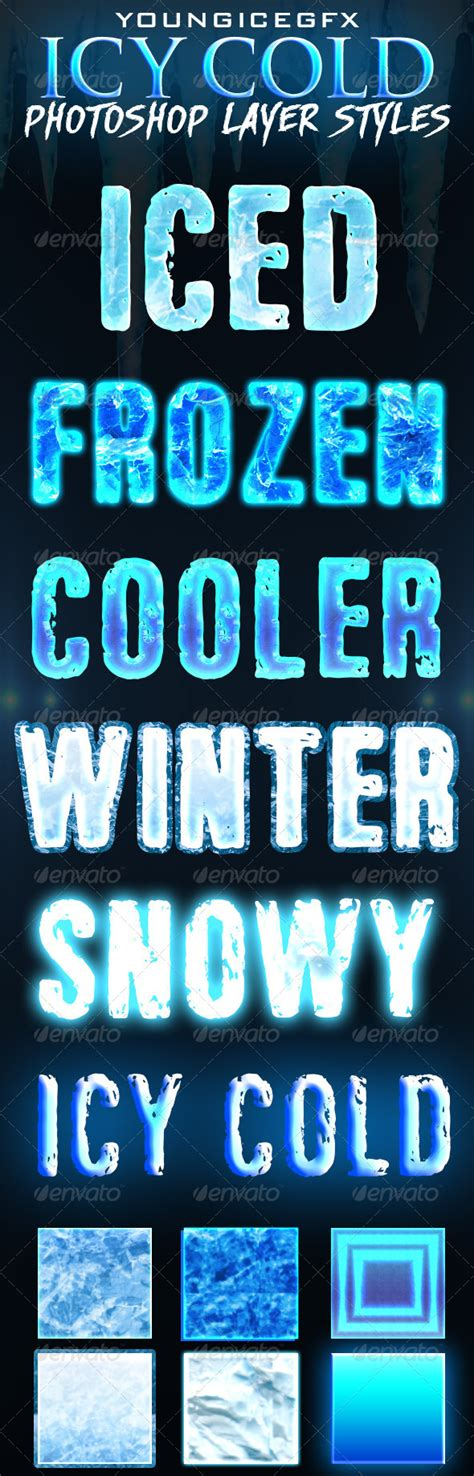 dafont ice icy cold photoshop layer styles fonts layer style and texts