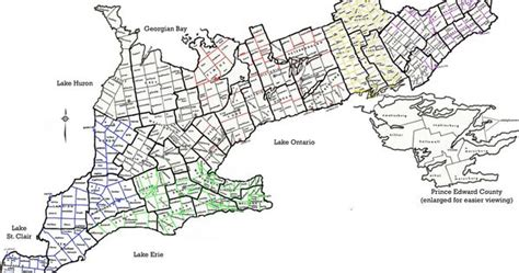 City Of Toronto Marriage Records Map Of Southern Ontario Including Counties And Townships Ontario Canada