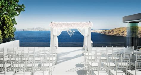 Cliff top Santorini Wedding Venue