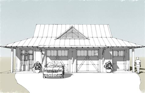 Tideland Haven Garage     Southern Living House Plans