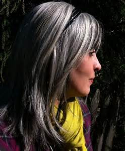 highlights to hide grey in darker hair beautiful gray hair cuts hair world magazine