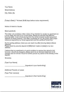 Break Fee Letter Intent writing your landlord a letter of notice