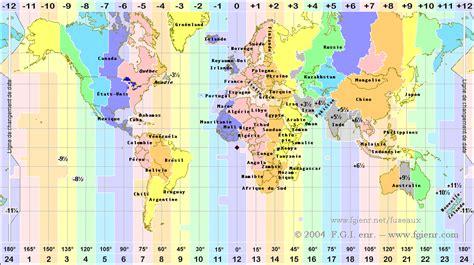 carte du monde des fuseaux horaires fgi