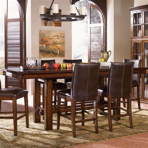 Rustica Dining Table A America Mesa Rustica Counter Height Dining Table In Mahogany Mesam6770