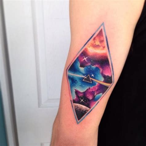 watercolor tattoo diamond brilliant space inspired watercolor tattoos by adrian