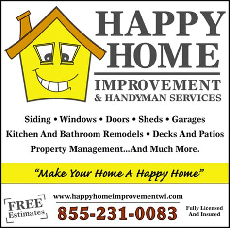 happy home improvement handyman service chippewa falls