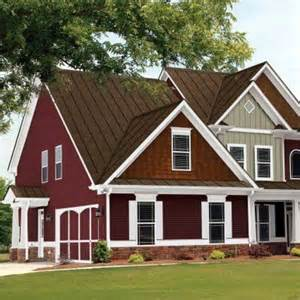 house paint would be a red house facade something for
