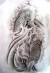 Monochrome Koi Fish Tattoo Designs  Best Design Gallery