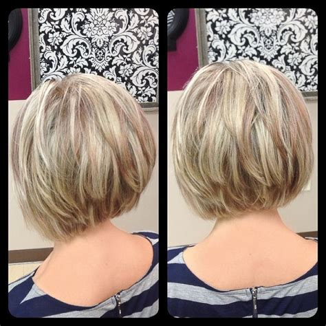 long layered stacked bob ombre hair color trends is the silver grannyhair style