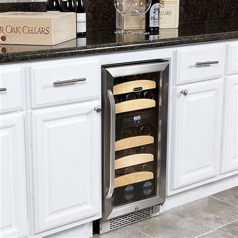 under cabinet wine cooler whynter 28 bottle built in wine cooler review