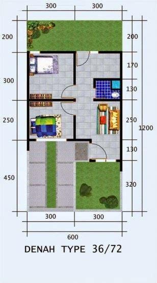 gambar denah rumah minimalis type   lantai home