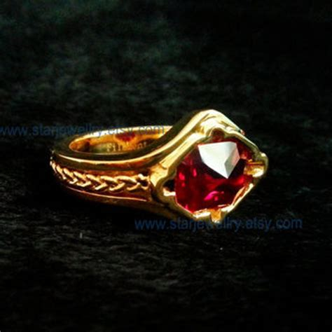 Narya Pink steunk ring lotr narya ring from starjewellry on etsy