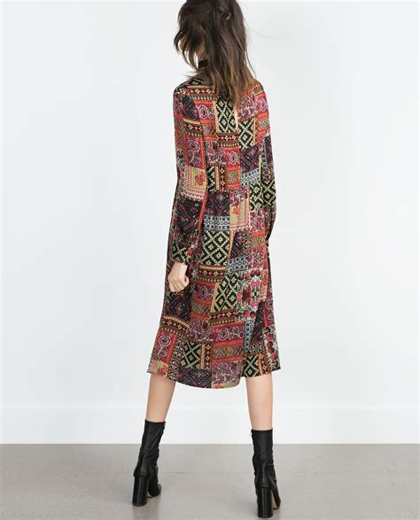 Patchwork Dresses - zara midi patchwork dress dresscodes