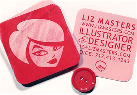 Lip Shaped Business Cards