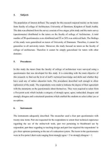 Critique Essay Exles by Sle Journal Article Critique Scholarly Article Critique Student Exle