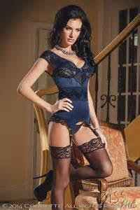 Sexy coquette powernet off shoulder bustier corset lingerie 2053152