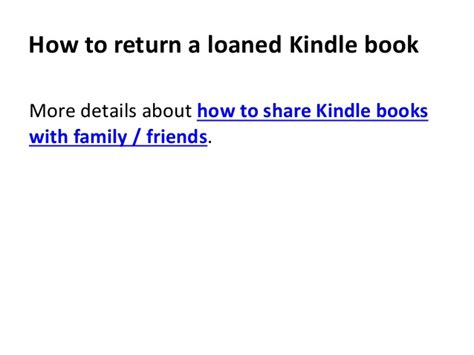 how to loan a book from my kindle to a friend books how to return a loaned kindle book