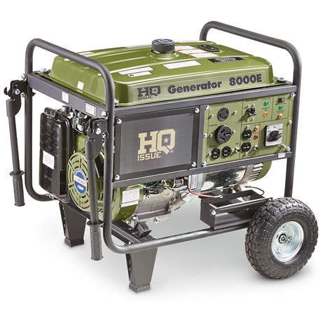 hq issue gas generator 8 000 watt 660401 portable
