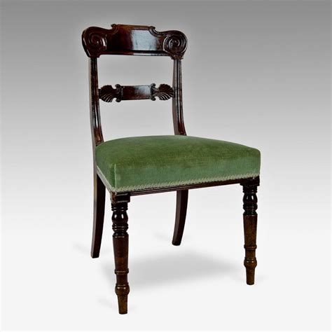 William Iv Dining Chairs Set Of 6 William Iv Mahogany Dining Chairs Johncowderoyantiques Co Uk