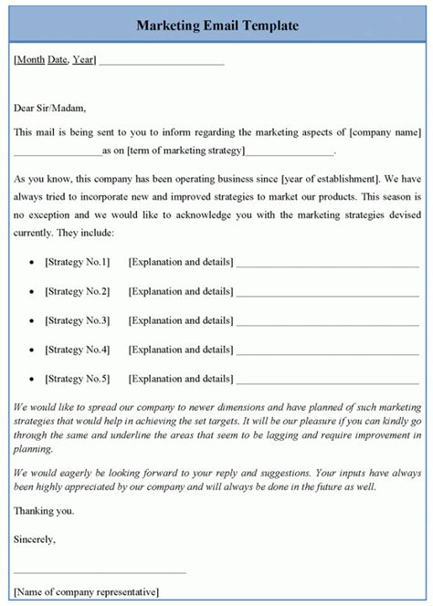 email advertising templates free marketing email template sle templates