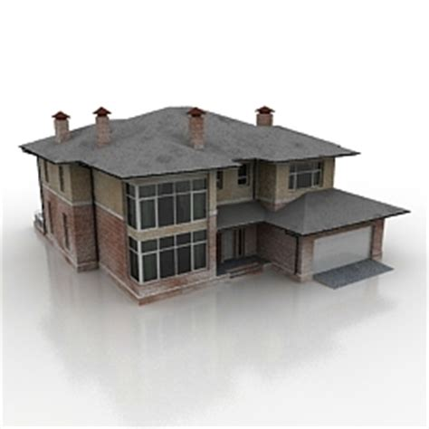 House 3d Model Free Download by 3d Buildings And Houses House 2 N121009 3d Model