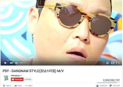 psy hits his next view count milestones for daddy and psy s gangnam style mv surpasses an incredible 2 5