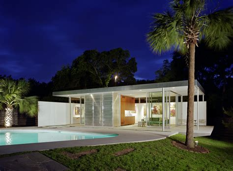 modern pool house tarrytown pavilion modern pool austin by