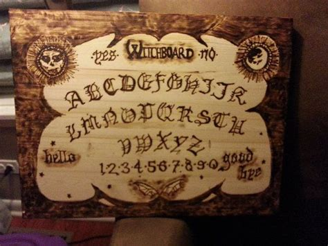 Handmade Ouija Boards - handmade wood burnt ward evil eye spirit board ouija