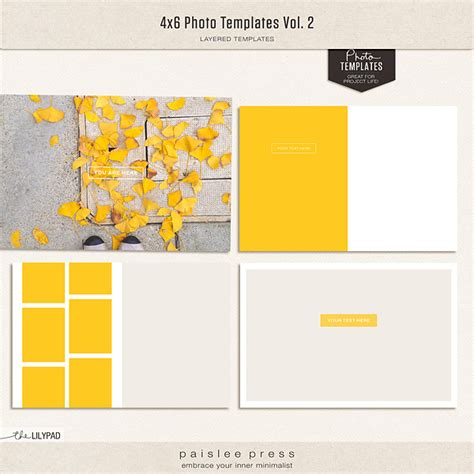 4x6 photo card template digital scrapbooking templates templates the lilypad