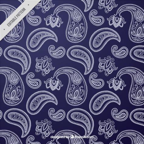 Blau Mit Muster Blau Wei 223 Muster Mit Dekorativen Formen Der Kostenlosen Vektor