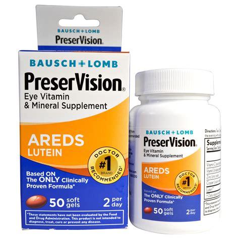 Vitamin Lutena bausch lomb preservision areds lutein eye vitamin mineral supplement 50 soft gels iherb