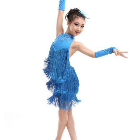 Dres Donita No 8 kid tassel dress ballroom salsa wear costume in ballroom from