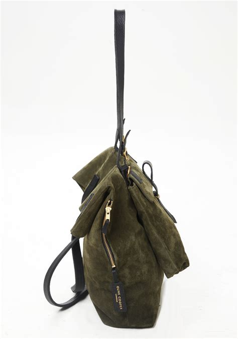 Cooper Green Bag by Olive Cooper Kingly Khaki Suede Handbag In Green Lyst