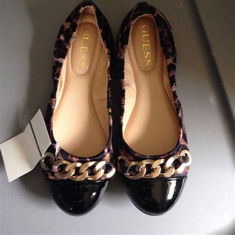 guess flats shoes 60 guess shoes guess gold leopard flats from s