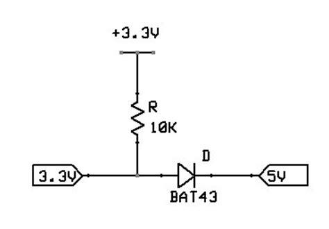 schottky diode level shifter schottky diode bi directional logic level conversion
