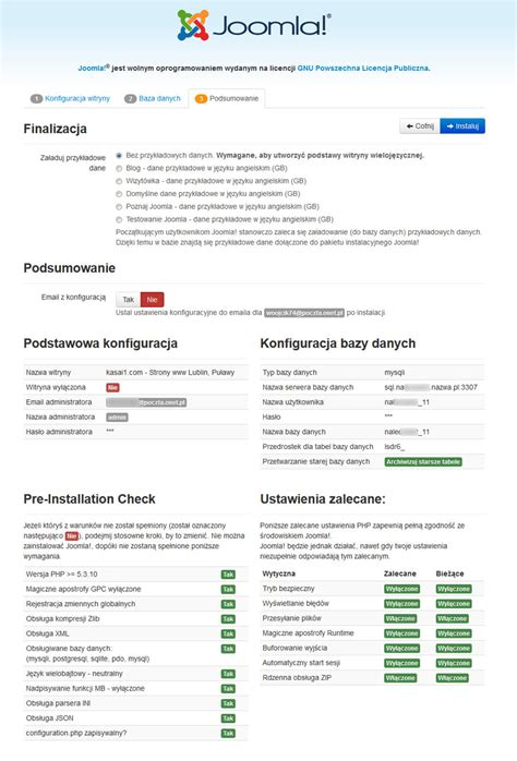 tutorial joomla 3 3 jak zainstalować cms joomla 3 strony internetowe www