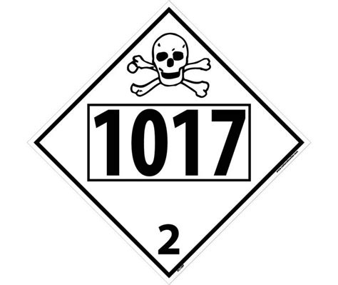 dot safer web chlorine poison toxic gas permanent 4 digit placard