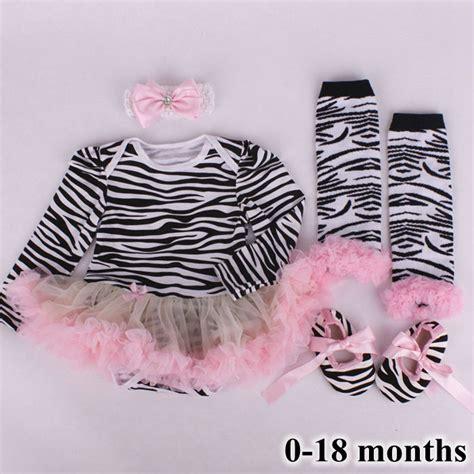 Set Shoes And Set Tutu For Baby 0 12 Bulan 44 zebra print newborn tutu sets lace romper dress warmers shoes headband 4pcs baby clothing