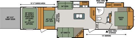 kz toy hauler floor plans sportster 373th12 fifth wheel toy hauler k z rv
