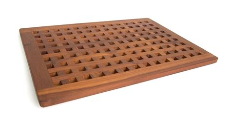 Bath Shower Mats Non Slip solid teak grate bath shower mat teak patio furniture world