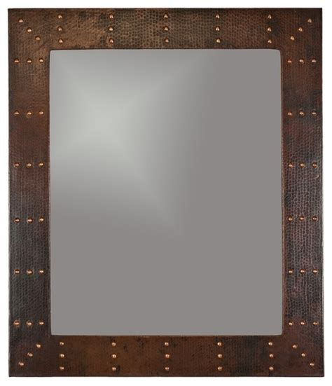 Premier Copper 36 Hand Hammered Rectangle Copper Mirror Copper Bathroom Mirrors